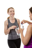 Friendly workout Stock Image