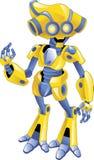 Friendly yellow robot Stock Photos