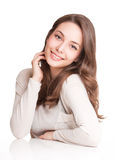 Friendly young brunette. Royalty Free Stock Images