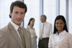 Friendly young businessman royalty free stock photography