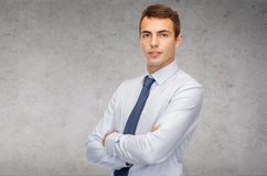 Friendly young businessman Stock Image