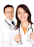 Friendly young doctors Stock Photos