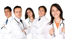 Friendly young doctors team Stock Photography