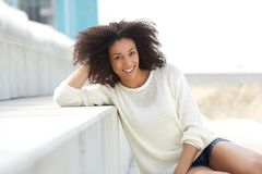 Friendly young female fashion mode Stock Images