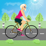 Friendly young girl riding bicycle happy Royalty Free Stock Photo
