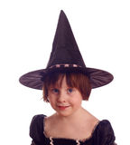 Friendly young halloween witch Royalty Free Stock Photos