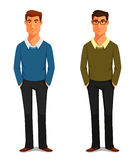 Friendly young man in casual clothes Royalty Free Stock Photography