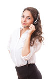 Friendly young office woman. Royalty Free Stock Photos