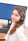 Friendly young office woman. Stock Images
