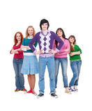 Friendly young people Royalty Free Stock Photos