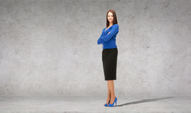 Friendly young smiling businesswoman Stock Images
