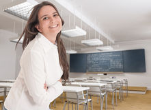 Friendly young teacher Royalty Free Stock Images