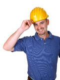 Friendly young work man Stock Photo