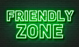 Friendly zone neon sign Royalty Free Stock Photos