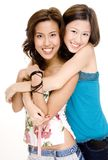Friends 1. Two young women with great smiles Royalty Free Stock Photo