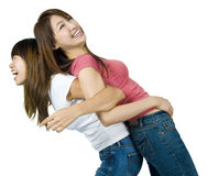 Friends. Asian female having fun together royalty free stock image