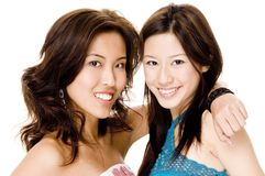 Friends 2. Two pretty young asian women Stock Photography