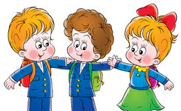 Friends. Clip-art (illustration) for your design, scrapbook, album, postcard, cover, etc Stock Images