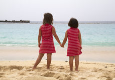 Friends. Best friend girls at the sea Stock Photo