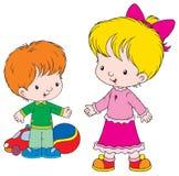 Friends. Vector clip-art / children's illustration for yours design, postcard, album, cover, scrapbook, etc Stock Photo