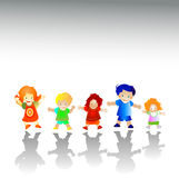 Friends. Kids playing; group of happy children Royalty Free Stock Photo