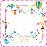 Friends. Little kids celebrating christmas; background for kids Royalty Free Illustration