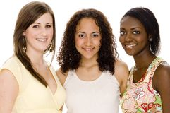 Friends. A group of friends of different race Royalty Free Stock Images