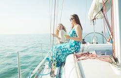 Friends aboard stock photo