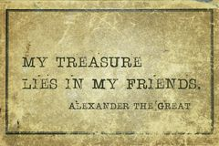 Friends Alexander the Great Stock Photos