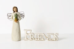 Friends and Angels Stock Images