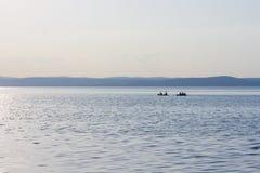 Free Friends Are Kayaking On A Sunny Summer Day - Lake Balaton Stock Photo - 191210120
