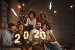 Free Friends At New Years Eve Party Royalty Free Stock Photography - 165674777