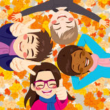 Friends Autumn Leaves Royalty Free Stock Photo