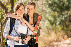 Friends autumn mountain Stock Image