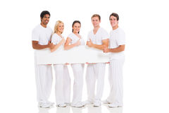 Friends banner thumbs up Stock Images