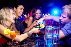 Friends in bar Royalty Free Stock Photo