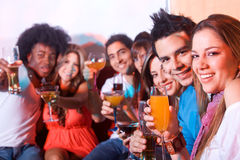 Friends in a bar Stock Photography