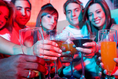 Friends at a bar Stock Photography