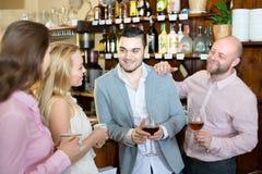 Friends in a bar Stock Photo