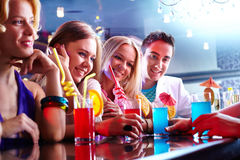 Friends in the bar Royalty Free Stock Photos