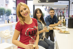 Friends in bar Stock Photography