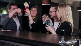 Friends at the bar stock footage