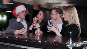 Friends at the bar stock video footage