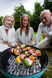 Friends Barbecue in Park Royalty Free Stock Images