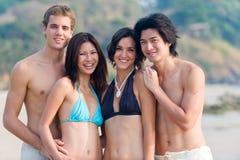 Friends On Beach Stock Image