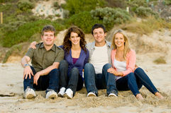 Friends At Beach Royalty Free Stock Images