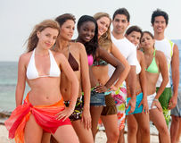 Friends at the beach Royalty Free Stock Photo
