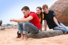Friends on beach Stock Photos