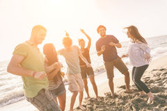 Friends at Beach Royalty Free Stock Image