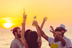 Friends Beach Party Drinks Toast Celebration Concept Royalty Free Stock Images